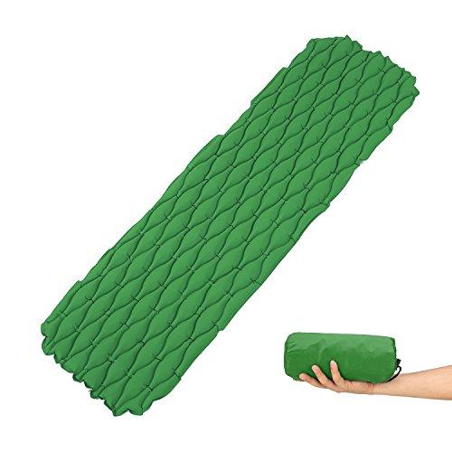 FAMLOVE Ultraleicht Aufblasbare Isomatte Rucksack Camping Pad Schlafmatte Leichtgewicht
