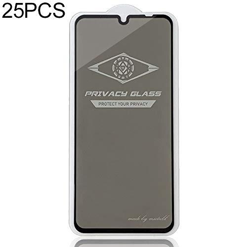 Pellicola di Vetro temperato JL 25 PCS for Xiaomi redmi Nota 7 PRO Schermo antiriflesso Completa Vetro temprato Film (Nero) (Colore : Black)