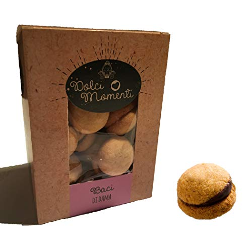 Locanda La Posta, Baci di Dama Artigianali - Biscotti Burro e Cioccolato Pasticceria Piemontese - 250 g