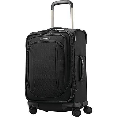 Samsonite Lineate Softside Luggage, Obsidian Black, Carry-On
