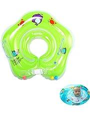 Baby zwembad float, zwemring, opblaasbare kinderen zwemmen float, baby zwemmende nek ring met klokken, kinderen zwemmende nek ring voor baby kinderen baby, voor leeftijd 0-3