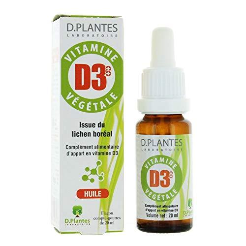 D.Plantes - Vitamine D3++ Végétale 400 UI 20 ml - Lot de 2
