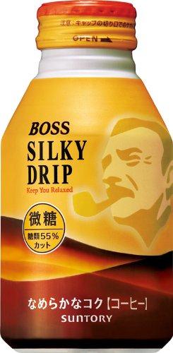 サントリー ボス コーヒー シルキードリップ 微糖 260g×24本