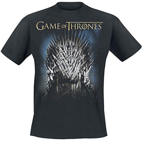 Game Of Thrones Juego de Tronos The Throne Hombre Camiseta Negro M, 100% algodón, Regular