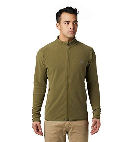 Mountain Hardwear Macrochill Full Zip Men's Classic Fleece Jacket for Hiking, Backpacking, Climbing, and Everyday - Combat Green - Large