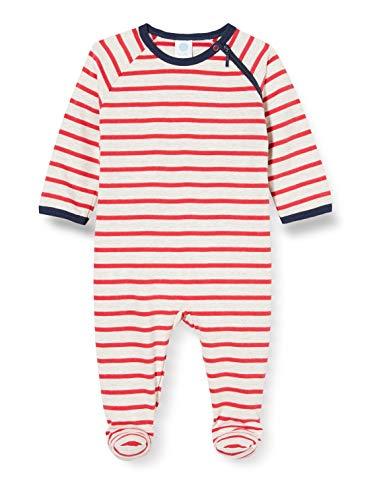 Sanetta Baby-Jungen Overall Karmin Kleinkind-Schlafanzüge, rot, 080