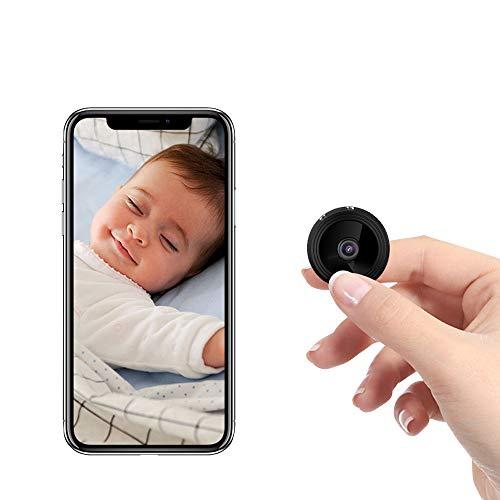 Mini telecamera spia A9 Telecamera nascosta HD 1080P wireless, Telecamere WiFi di sicurezza domestica, Telecamere di sorveglianza Nanny Cam Videocamera con rilevamento del movimento e visione notturna