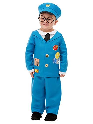 SMIFFYS, 50877T2, costume da postino Pat, con licenza ufficiale, per bambini e ragazzi, blu, età 3-4 anni