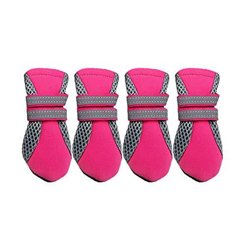 Ahomi 4Pet Schuhe wasserdicht Gummi Beute Katzen Hunde Anti-Rutsch Mesh Stiefel