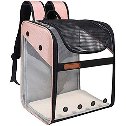Pet Carrier Backpack Cat Dog Portable Breathable Rucksack Expandable Transport Bag Carrying Backpack Outdoor Travel Bag with Mesh Opening for Cats Dogs Puppy Kitten Animals Walking Traveling Hiking