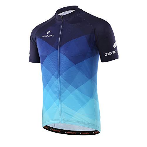 Herren Atmungsaktiv Schnelltrocknend Fahrradtrikot, Outdoor Kurzarm Radsport-Shirt