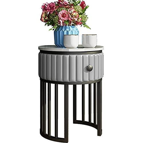 YUESFZ Luxus-Beistelltisch Mit Schublade, Einfacher Nachttisch Ecktisch, Sofa Und Couchtisch Im Wohnzimmer, Balkon Kleiner Runder Tisch (Color : F, Size : 40 * 60cm)