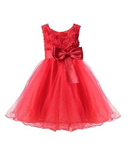 Live It Style It, flicka, blommor, formell bröllops-, brudtärne-, fest-, dopklänning, barnkläder, spetsklänning, prinsesskläder, barn-, babykläder, ros, rosett, 2–10 år