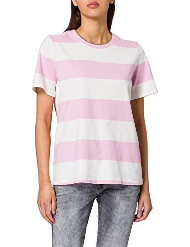 edc by ESPRIT Damen 021CC1K316 T-Shirt, 670/PINK, M