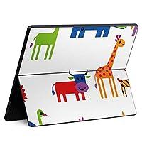 igsticker Surface Pro X 専用スキンシール サーフェス プロ エックス ノートブック ノートパソコン カバー ケース フィルム ステッカー アクセサリー 保護 004384 アニマル 動物 キャラクター