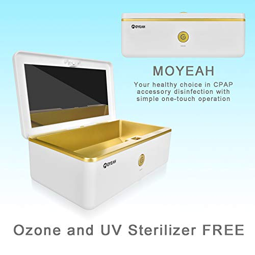CPAP Cleaning Supplies, CPAP Cleaner UV Ozone CPAP Cleaner Supplies, CPAP Cleaner Ozone Free UV for CPAP Mask, Accessory and Air Tubes Machine Tube Respirator by MOYEAH