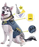 CozyVest 3-in-1 Calming Vest Music & Aromatherapy Dog Anxiety Coat Relaxing Sound & Essential Oil Scent Treats Canine Stress Relief Fireworks Thunder Separation Shirt Jacket(Gray, M [26-40 Lbs])
