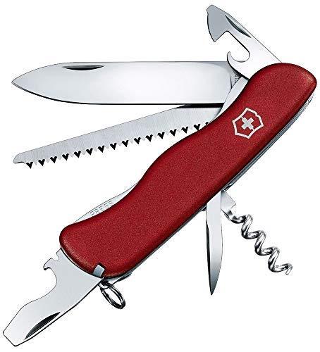 Victorinox Taschenmesser Forester (12 Funktionen, Holzsäge, Platinen-Verriegelung) rot