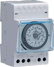 Hager Sistemas EH111 Interruptor Horario Esfera Diaria 16A, con Reserva 200 H