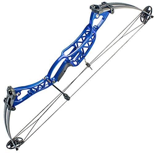 GOFEI 40-60Lbs Archery Compound Bows Kit, Adult Right Left Hand Compound Bow Adjustable Hunting Bow for Outdoor Shooting,Blue