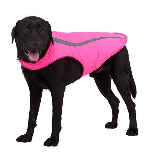 handfly Casaco exterior reflexivo para cães grandes Casaco quente de inverno Casaco impermeável para cães Casaco de lã para cachorros Roupas de inverno para cães grandes e médios