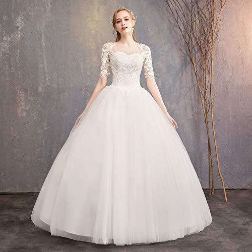 BGGYF Hochzeitskleid Stickerei Creme Brautkleid Schatz Schnür Ballkleid Elegante formelle Brautkleider Korsett Aushöhlen Mode