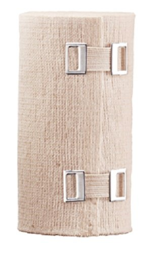 ACE 4 Inch Elastic Bandage with Clips, Beige, Comfortable design with soft feel, Wash and Reuse
