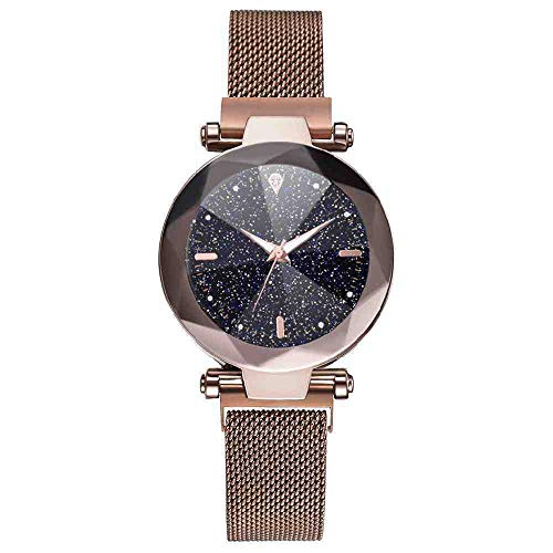 OLUYNG Reloj de Pulsera Estilo Moda Luminoso Starry Sky Reloj de Mujer Milan...