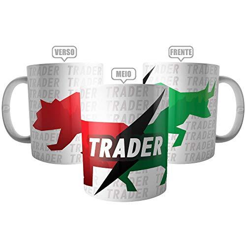 Caneca Day Trader Presente Investidor - Touro x Urso