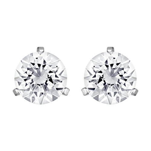 Swarovski Women's Solitaire Earrings, Pair of Pierced Stud Earrings with Crystals, Rhodium Plated, from the Swarovski Solitaire Collection