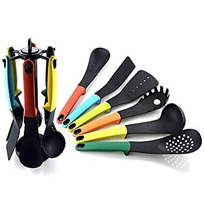 Nylon Cooking Utensil Set 7 Pcs Kitchen Spatula Gadgets Cookware Sets With holder New Home Essentials Housewarming Gifts by