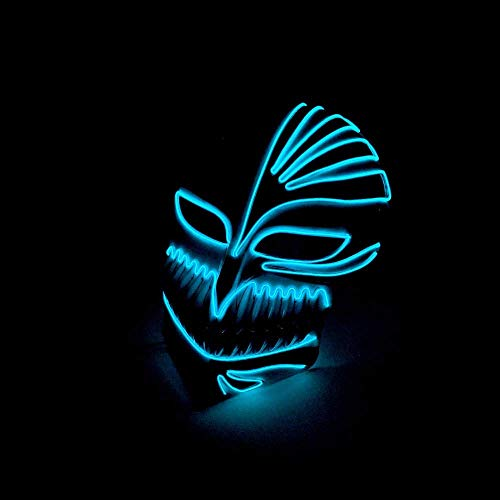 Halloween-Maskerade-Glühen-Masken-Stab-Partei-Kaltlicht-Maske Kaltlicht-Glühen-Maske, geführte Maske Rave, Halloween-Masken für die Erwachsenen beängstigend, geführte Maske für Kinder