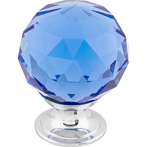 Top Knobs TK124PC Crystal Knob Chrome