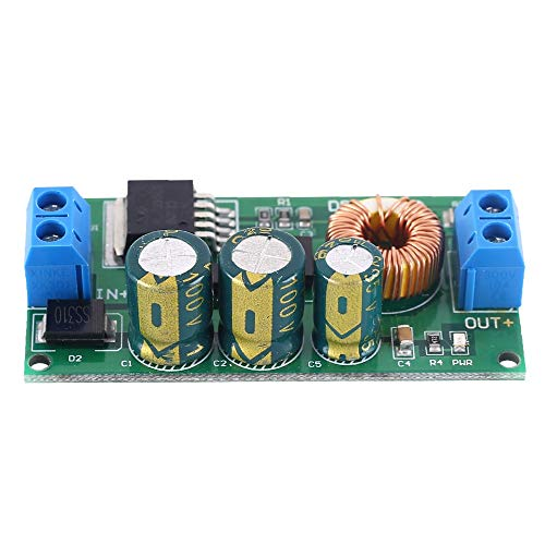 Módulo de fuente de alimentación Paso módulo de fuente de alimentación de Down Buck convertidor cargador Módulo DC-DC 12V 15V 24V 36V 50V 10V a 5V-80V a 5V Módulo ajustable
