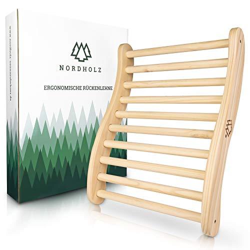 Nordholz® Sauna Rückenlehne ergonomisch - Die Perfekte Rückenstütze für sofortigen Wohlfühleffekt - Sauna Zubehör aus 100% nordische Fichte für Infrarotkabine - Holz Lehne Saunazubehör