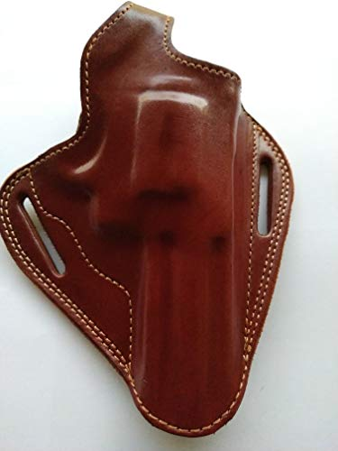 cal38 Handcrafted Leather Belt Holster Tan Black for Taurus...