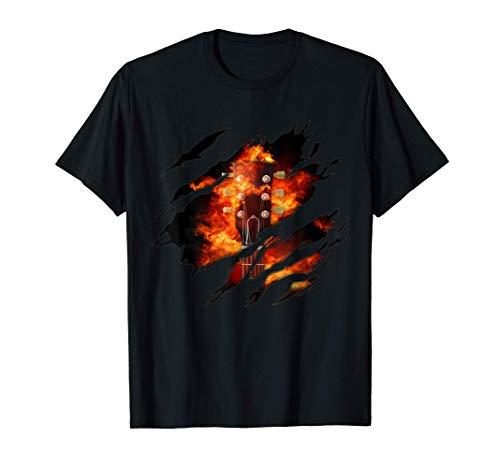 Feuer Gitarre in mir Design, Gitarre T-Shirt