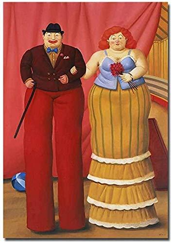 Payaso Rompecabezas Abstractos Adultos Rompecabezas 1000 Piezas Famoso Fernando Botero Lienzo Pintura De Pared, Arte 50X75Cm