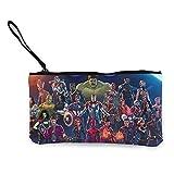 Bolso de lona con diseño de hombre de hierro de Avenger Hulk, bonito y de moda, para llevar y organizar la bolsa de almacenamiento y bolsa de cosméticos