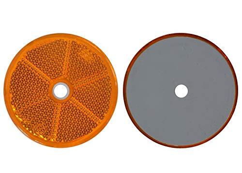 FKAnhängerteile 4 x Spot – Réflecteur arrière – Vis – Ø 60 mm – Jaune – E de marque de contrôle