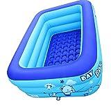 Piscina inflable Niños Natación Rectangular Blow Up Baby Bathtub 120x80x50cm Cuenca del patio trasero