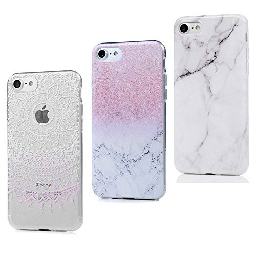 MAXFE.CO 2X Cover iPhone 7 Custodia Silicone Morbido TPU