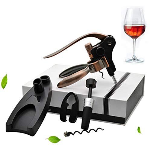 NBLYW Wijn Opener Konijn type All-In-One Wijnfles Opener Kit Handmatige Wijn Kurk Remover Set Perfect Hanger Kurk Opener voor Vrouwen Mannen Beste Wijn Accessoires