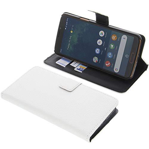 Tasche für Doro 8080 Book Style weiß Kreditkarte Schutz Hülle Buch