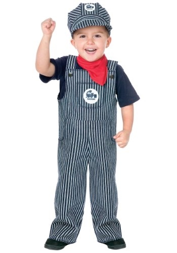 Fun World Toddler Train Engineer Costume Large (3T-4T) Blue
