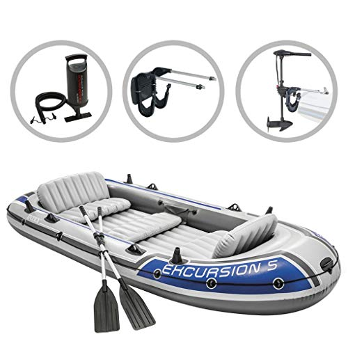vidaXL Intext Schlauchboot Set Excursion 5 Compact mit Schleppmotor und Halterung