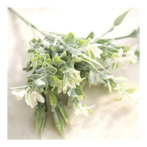 Roovtap Künstliche Pflanze Plastikblumen Lily Orchidee Kleine Bouquet Gefälschte Topfblumen Grün Dekoration Startseite Wedding Bouquet Dried Flower (Color : White)