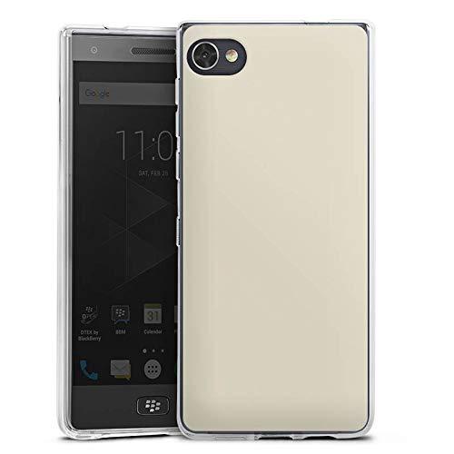DeinDesign Silikon Hülle kompatibel mit BlackBerry Motion Hülle transparent Handyhülle grau einfarbig Thermomixmotive