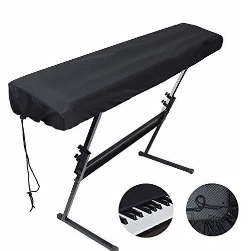 Comius Sharp 88 Tasten Elektronische Klaviertastatur Staubschutzhülle Tastaturbeutel Kofferhüllen aus Polyester und Elasthan mit eingebauter Tasche Elastischer Kabelverschluss