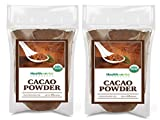 Healthworks Cacao Powder (32 Ounces / 2 Pounds) (2 x 1 Pound Bags) | Cocoa Chocolate Substitute | Certified Organic | Sugar-Free, Keto, Vegan & Non-GMO | Peruvian Bean/Nut Origin